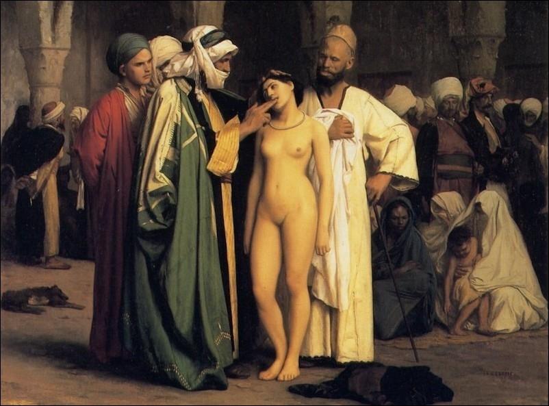 Slave Market, by Jean-Léon Gérôme, 1866.