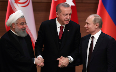 Iran, Turkey, and Russia Plot US Eviction from Syria