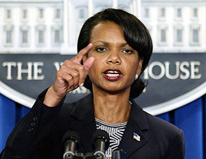 Secretary of State Condoleezza Rice