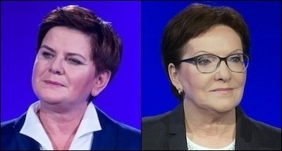The leaders of Poland's two largest political parties – Beata Szyd?o of Law and Justice (left) and Ewa Kopacz of the Civic Platform (right) – are women. Szyd?o will be replacing Kopacz as prime minister.