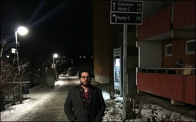 The author in Sweden earlier this month.